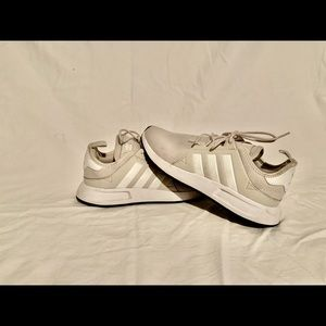 grey x_plr adidas grey size 7 men's women's 8.5